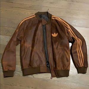 Adidas Originals leather track jacket